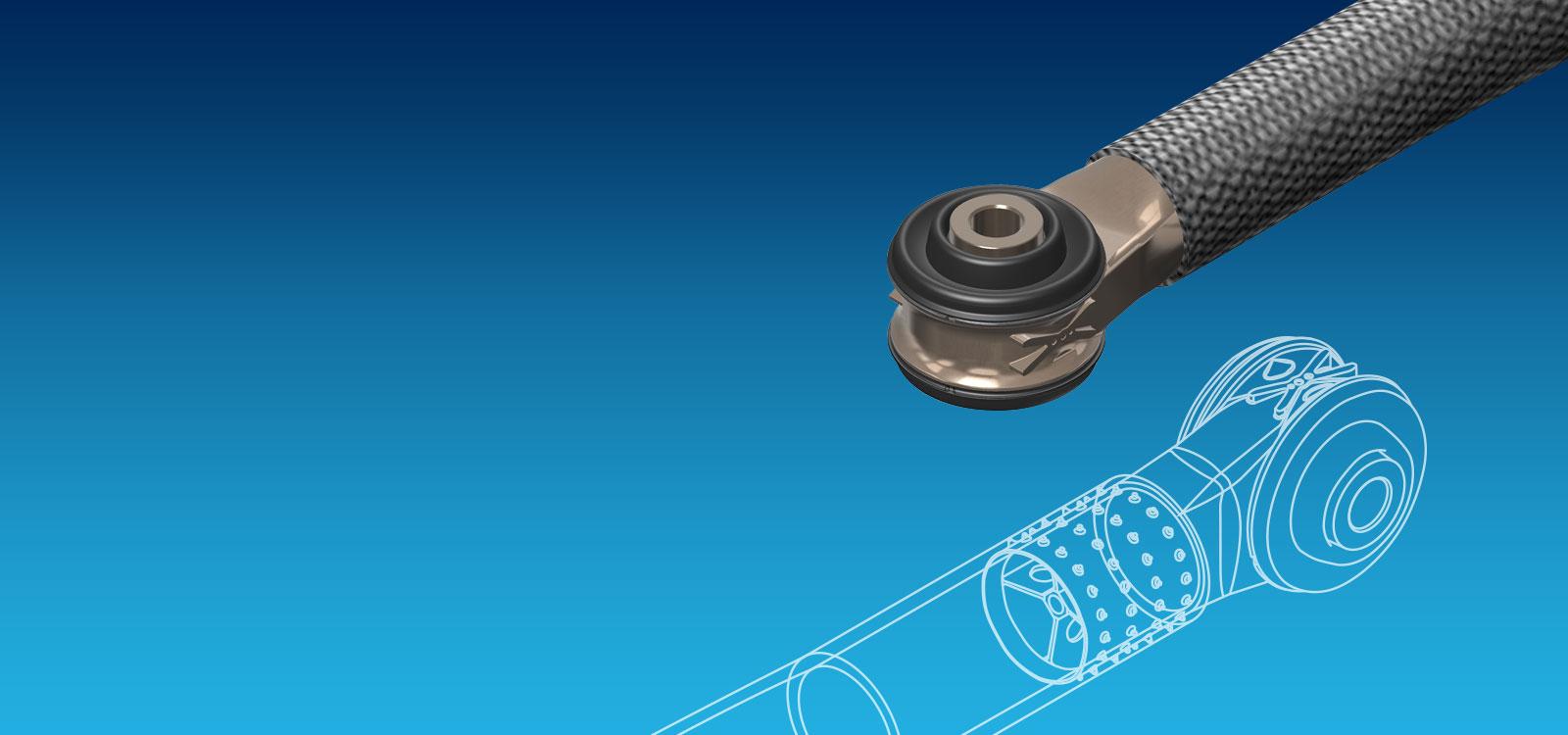 Ultraleichte Tie-Rods mit Alu-Titan Gelenklager