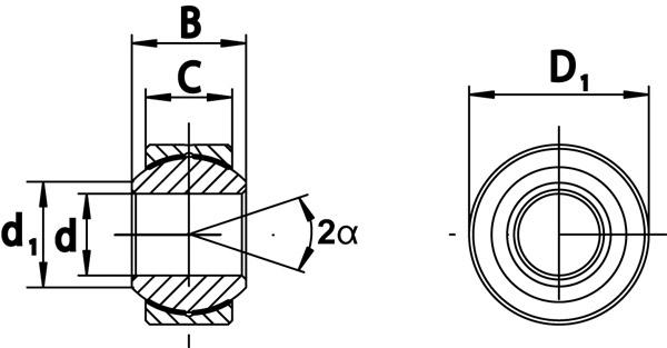 Hochleistungs-Gelenklager Aluminiun-Titan-Leichtbaulager